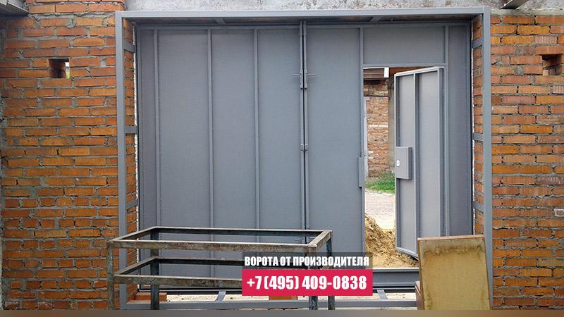 купить гаражные ворота распашные металлические