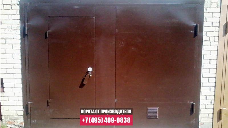 гаражные ворота распашные металлические